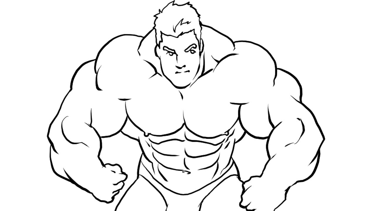 1280x720 How I Draw A Bodybuilder Manga Style Part 2 (Ink)