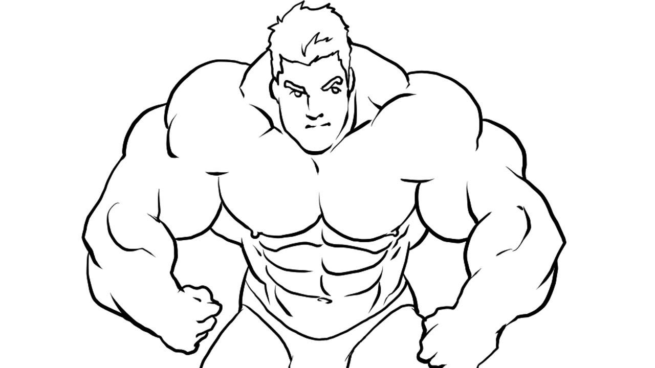 1280x720 How I Draw A Bodybuilder Manga Style Part 2 (Ink)