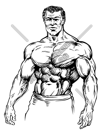 396x500 Body Builder Muscule Man Clipart And Vectorart Sports