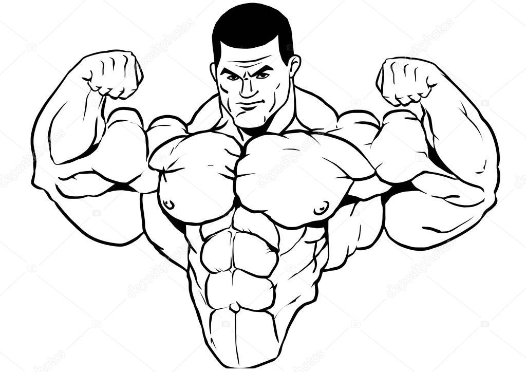1024x724 Muscular Torso Bodybuilder Stock Photo Orrlov