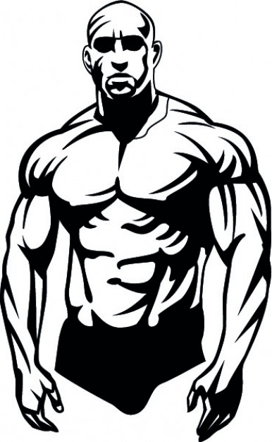 386x626 Body Builder In Black Vector Free Download