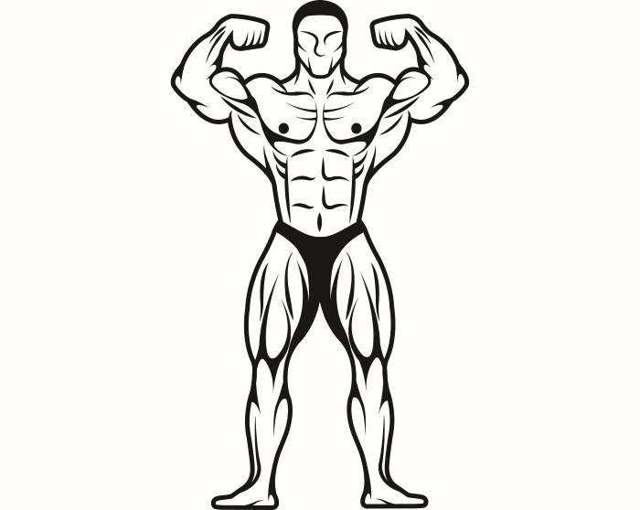 700x558 Bodybuilder 14 Bodybuilding Logo Front Pose Weightlifting