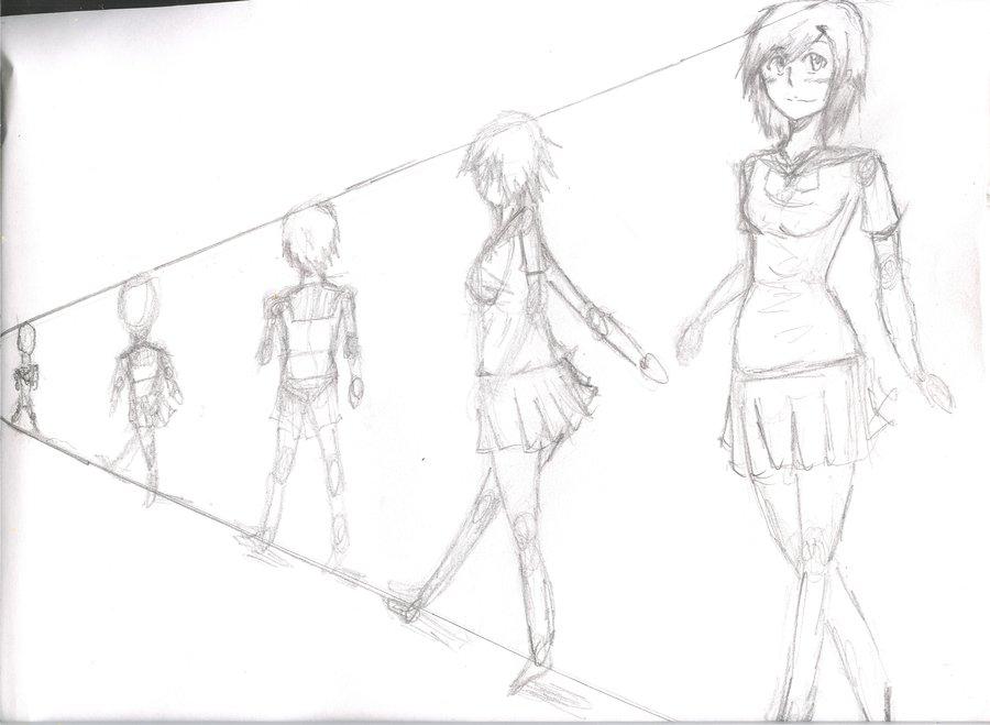 900x659 Draw Anime Females Tutorialbody And Perspective By Yochiro0864