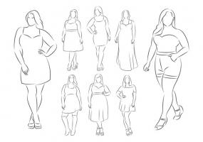285x200 Female Body Sketch Free Vector Graphic Art Free Download (Found
