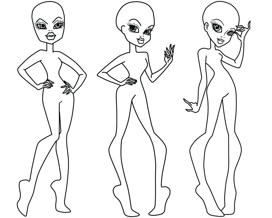 900x720 Body Outline Coloring Page Vibrant Monster High Outline Bases 3 By