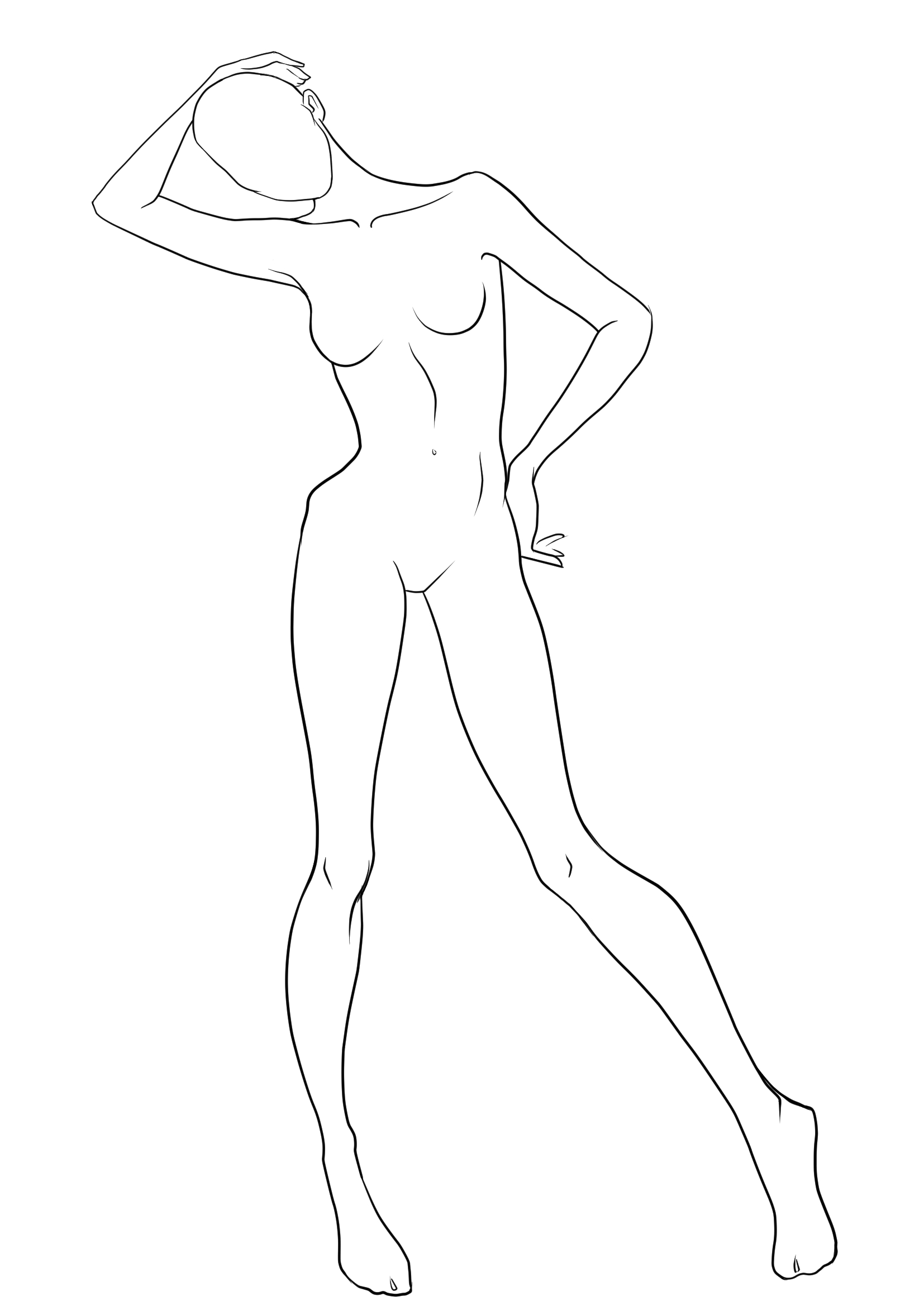 Body Drawing Outline At Getdrawings Free For Personal Use Body