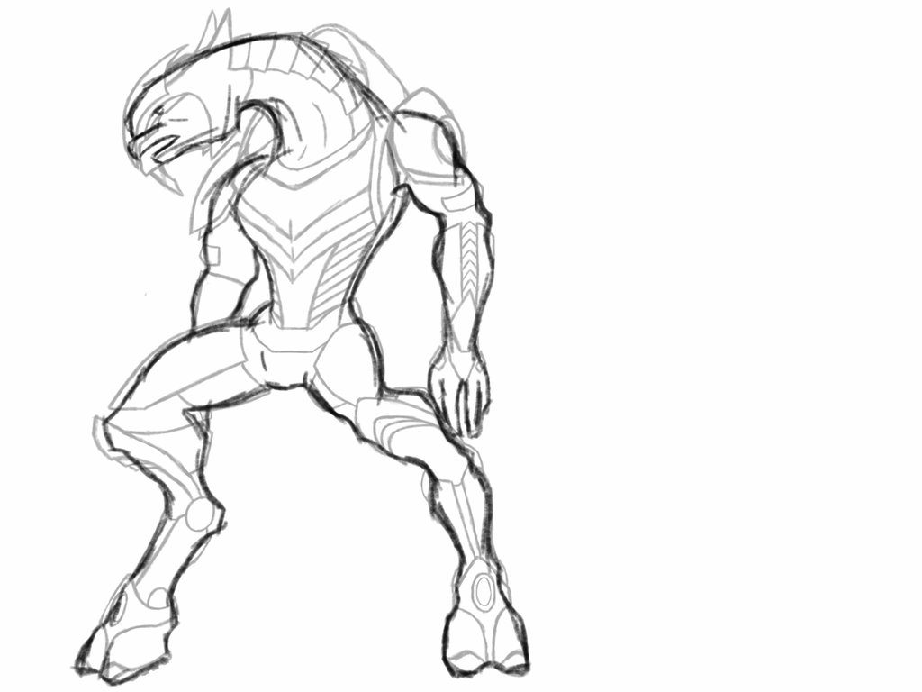1024x768 Sangheili Armour And Body Template By Wolfie369