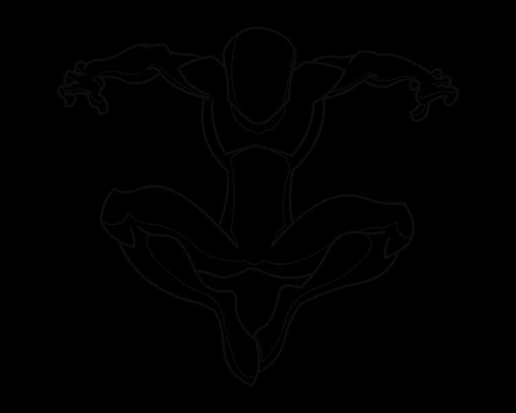 750x600 Spiderman Body Template 01 By Riderb0y