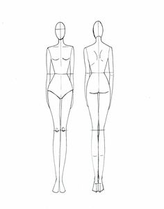 236x300 Woman Body Figure Fashion Template (D I Y Your Own Fashion