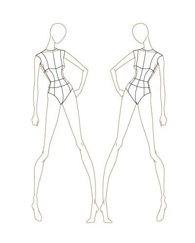 400x500 Fashion Sketches Template