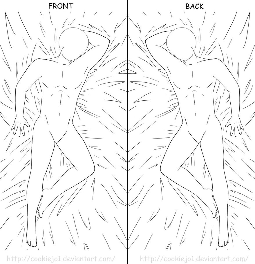 879x910 Body Pillow Template (Male Version) By Cookiejo1