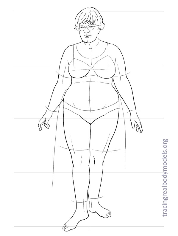 598x792 Templates Tracing Real Body Models