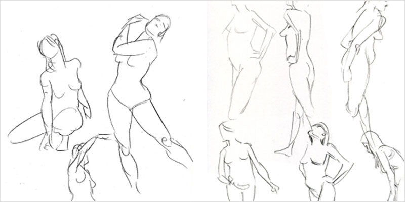800x400 Human Body Drawing Art Images