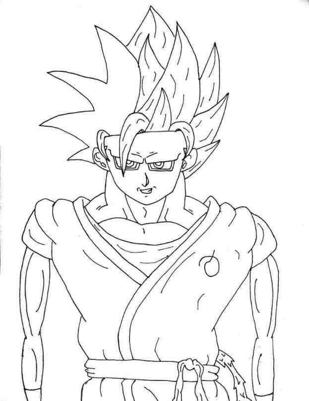 623x809 Ball Z Full Body Step By Youtube How Goku Normal Form Drawing