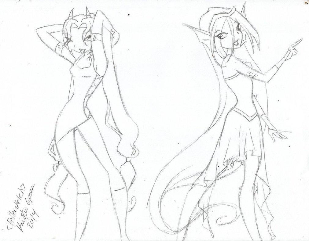 1011x790 Winx Club Body Form Sketch By Slavekagome