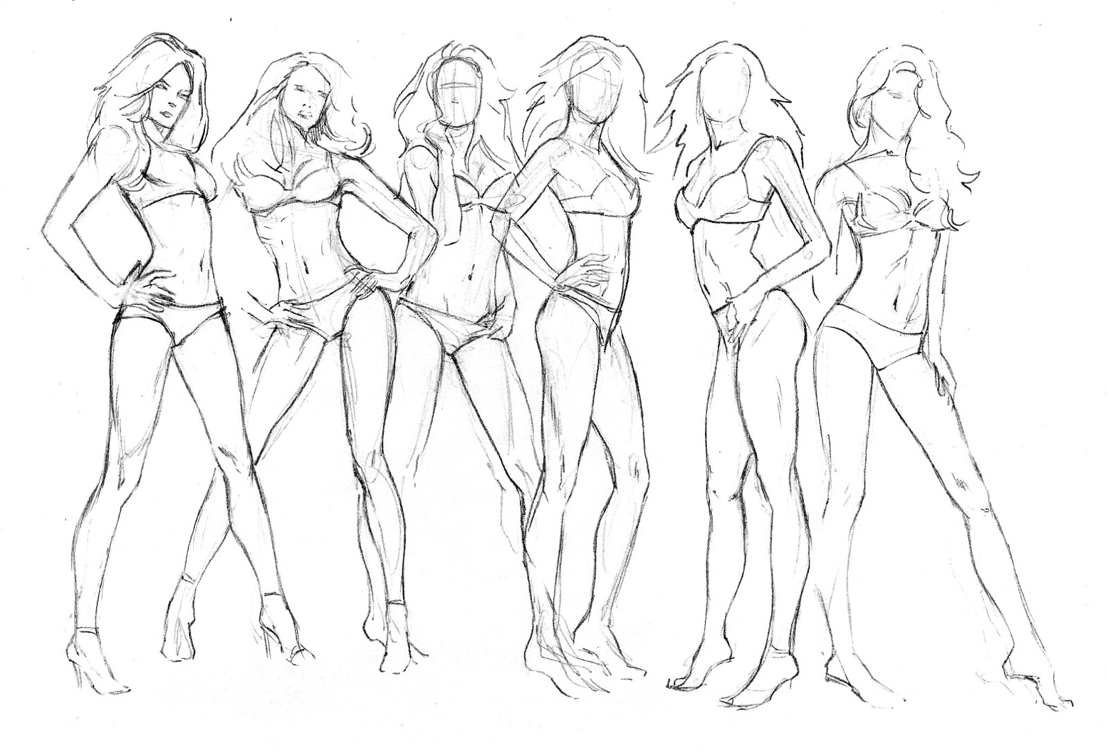 1600x1087 Drawing A Female Figure