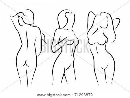 450x341 Illustrations Vector Women Naked Vector Amp Photo Bigstock