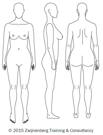 441x576 Basic Body Drawing For Measurements Draft 2 Zwijnenberg