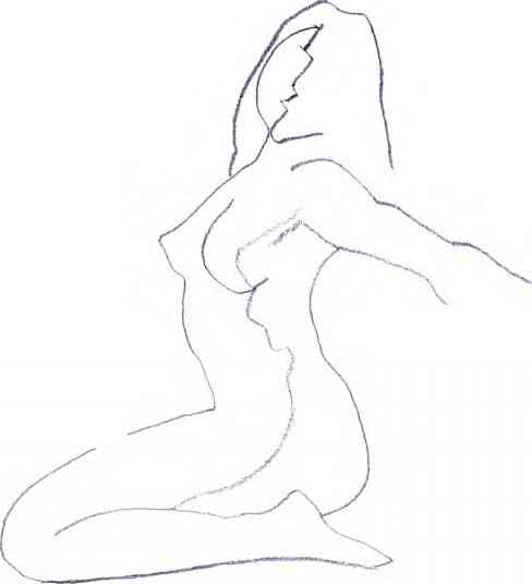 488x536 Continuous Line Drawing Artists Sketching Human