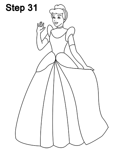 404x523 How To Draw Cinderella (Full Body)
