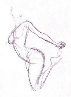 236x320 Female Body Line Drawing