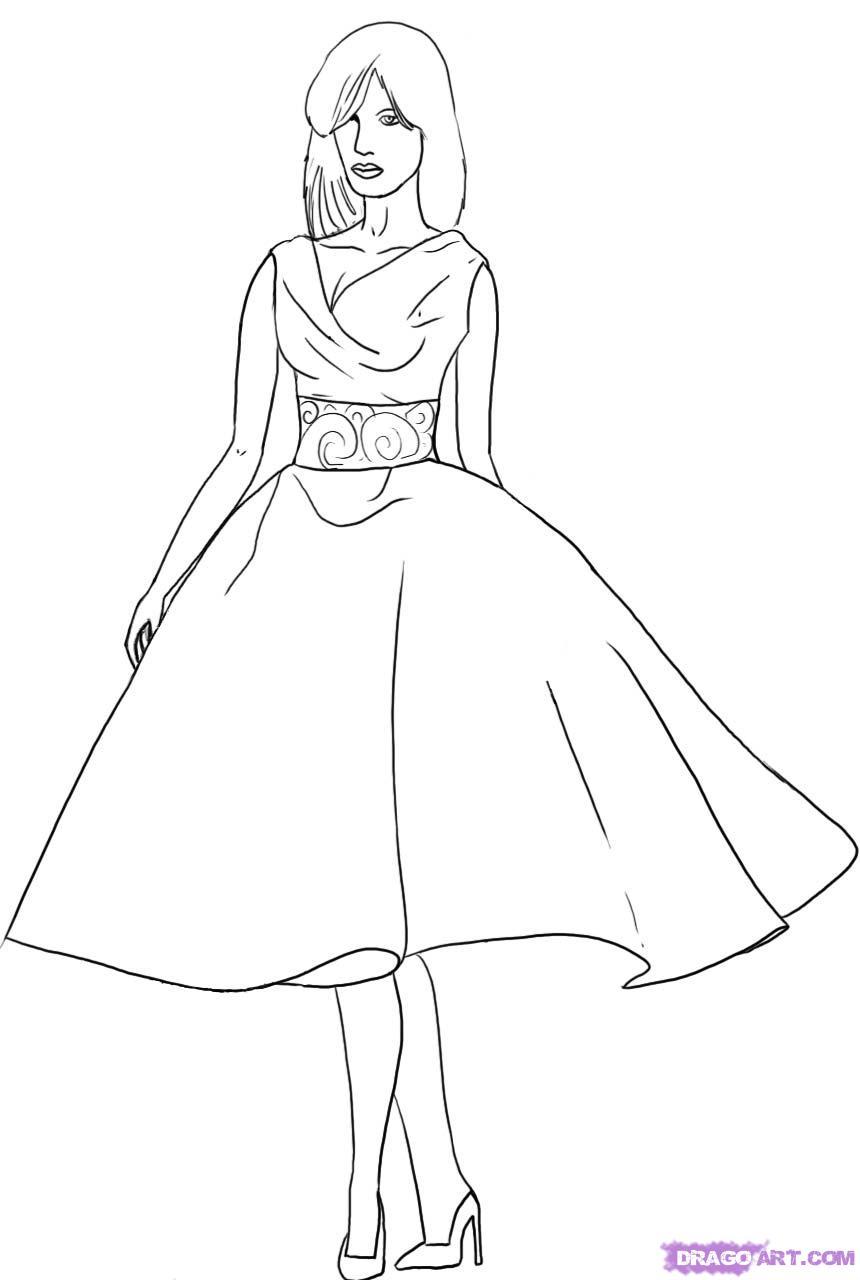 860x1280 How To Draw A Fashion Model, Step By Step, Fashion, Pop Culture