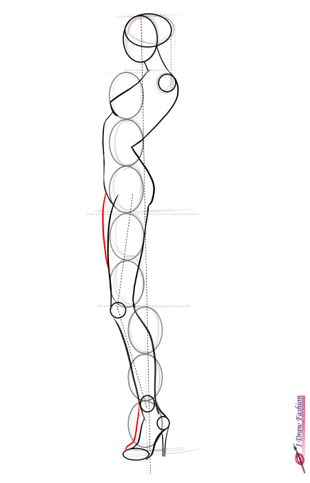 450x700 How To Draw Side View Pose I Draw Fashion