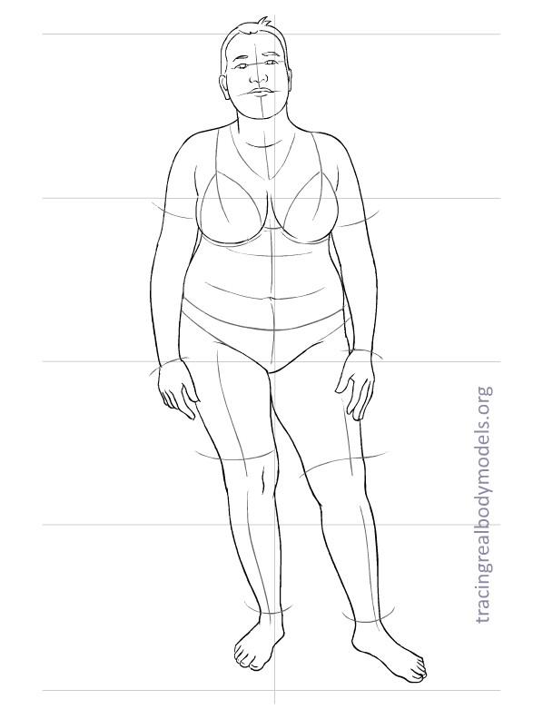 598x792 Fashion Model Full Body Drawing