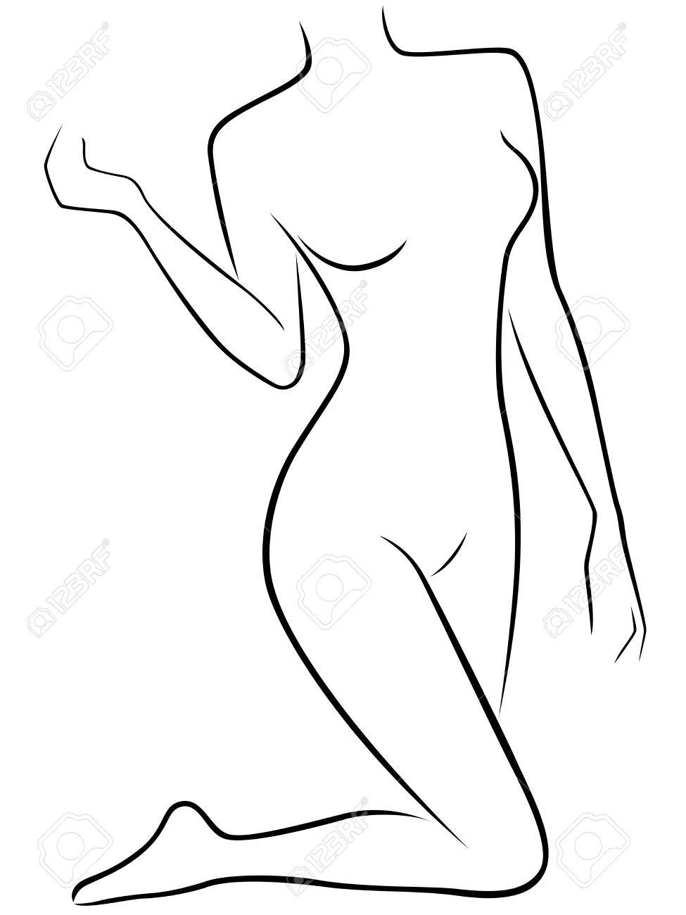 975x1300 Abstract Vector Silhouette Of Lower Part Of Slim Female Body