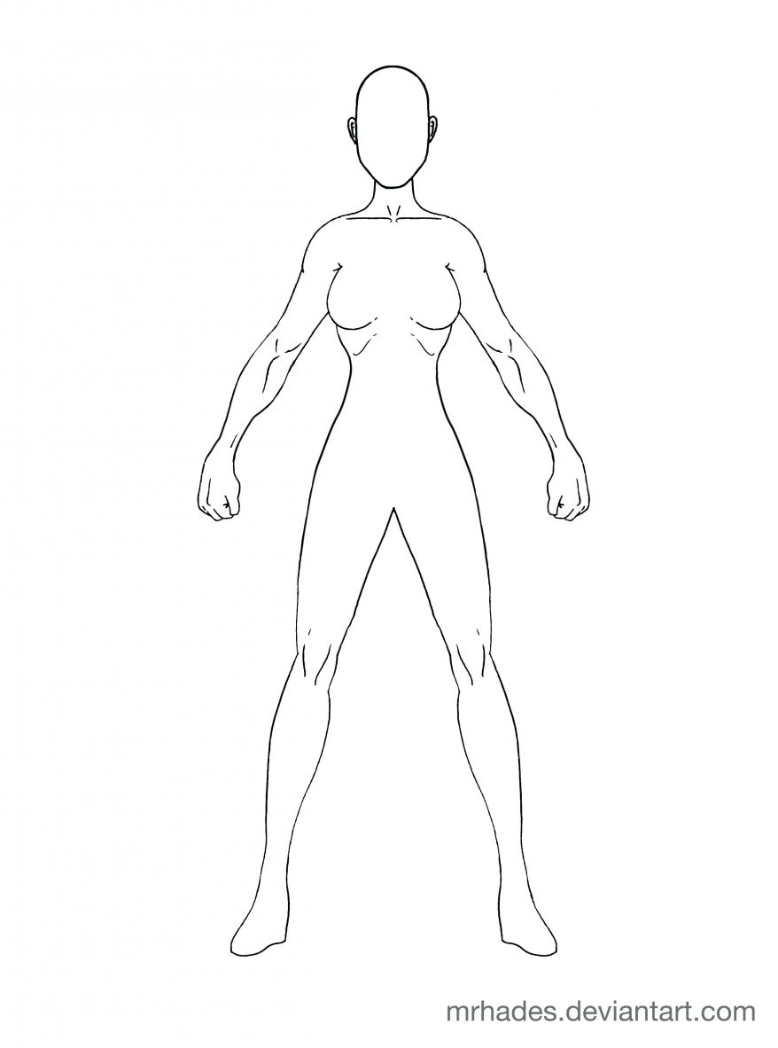 878x1182 Kid Body Outline Template