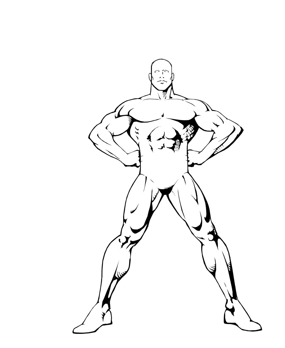 1000x1223 Outline Drawing Of Human Body Character Or Human Form Outlines