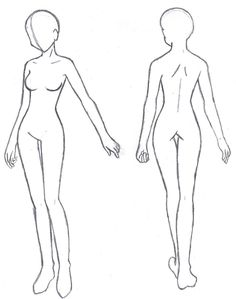 236x299 Anime Girl Body Outline(I Don'T Think Drawing In The Right Is