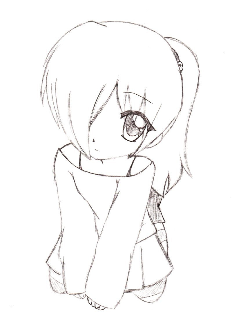 800x1089 Anime Drawing Outline Chibi Body Outline