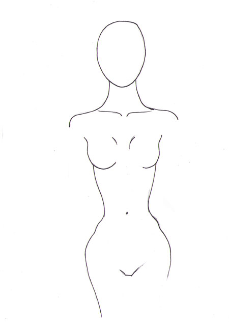 450x644 How To Draw Female Torso I Draw Fashion