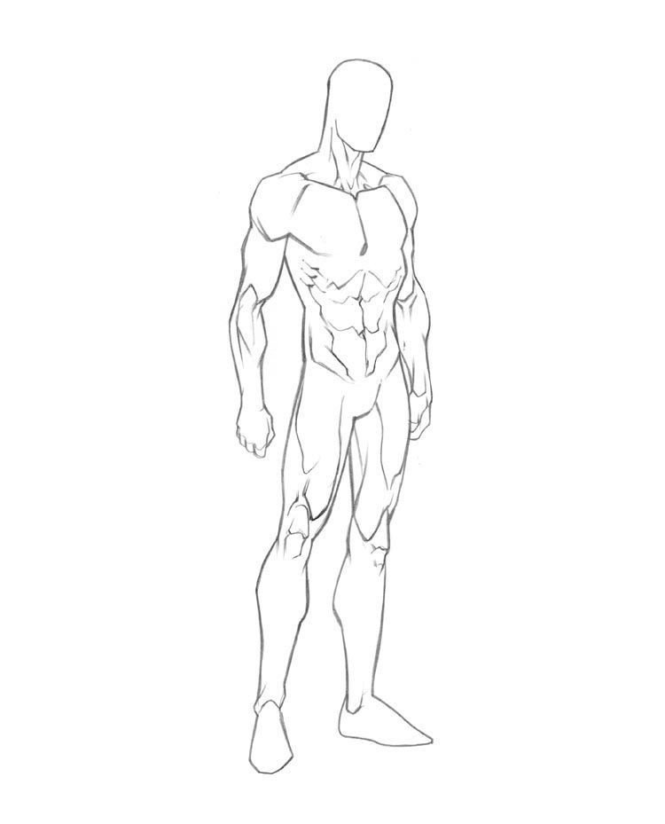 750x929 Male Drawing Template Cool Templates @ Www.template