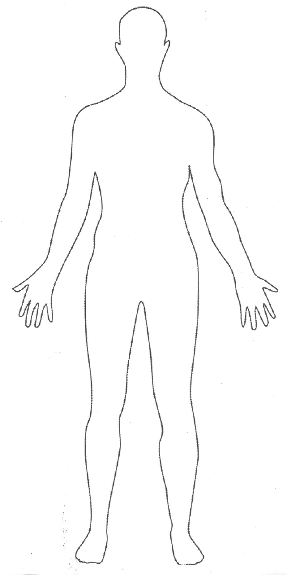 928x1856 Printable Human Body Outline Party