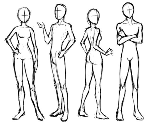 600x496 Body Poses For Drawing Art Amino