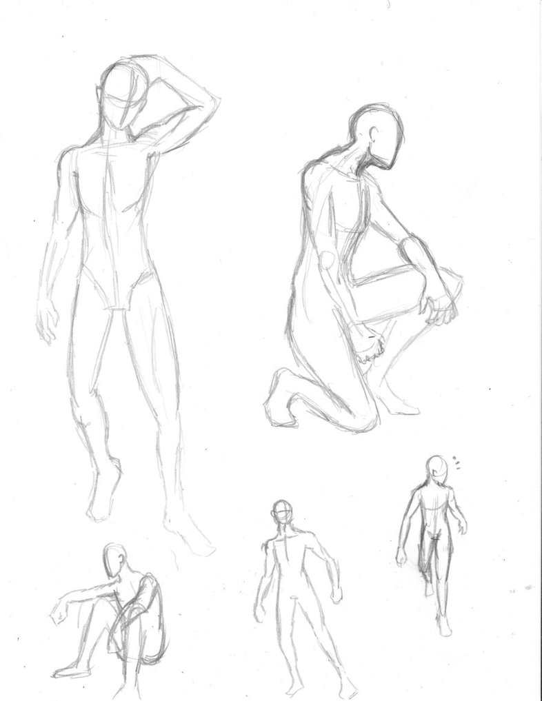 786x1017 Male Body Poses Sketch By Caz T13