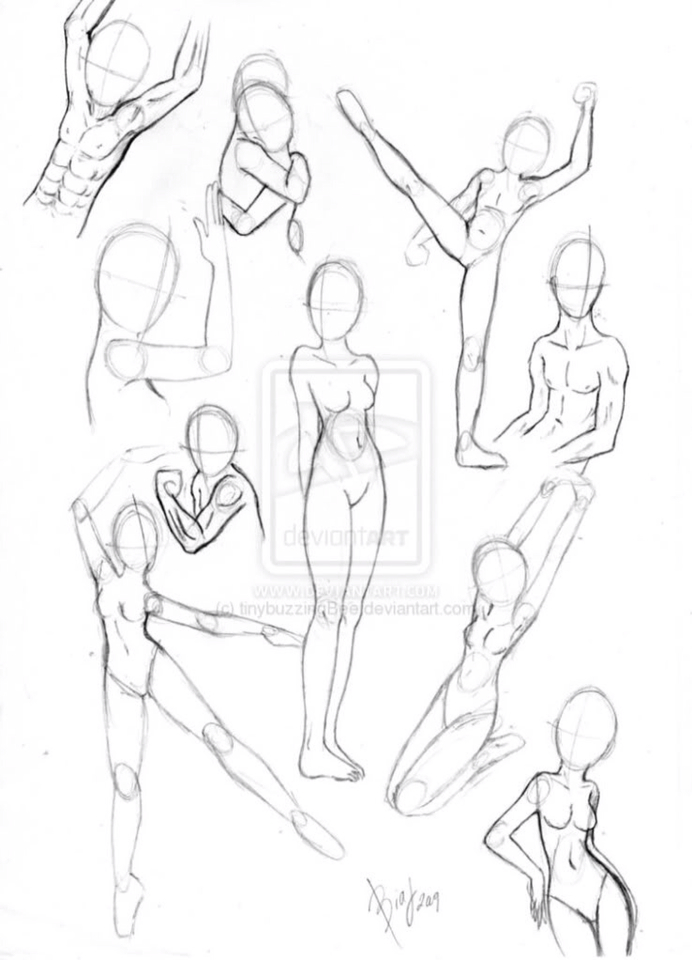 692x960 Pin By Drawing Techniques On Body Stylespositions.