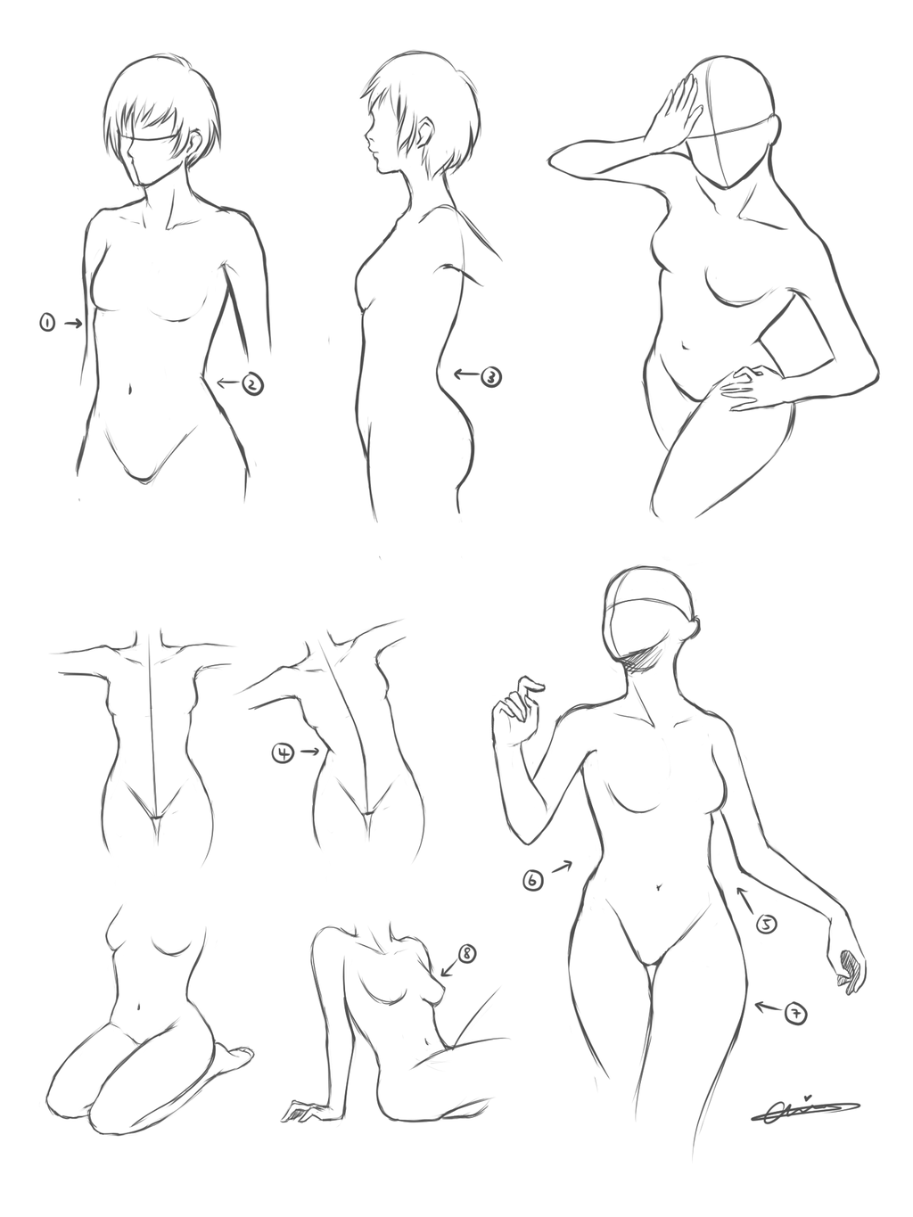1024x1365 Body Poses By Wangqr