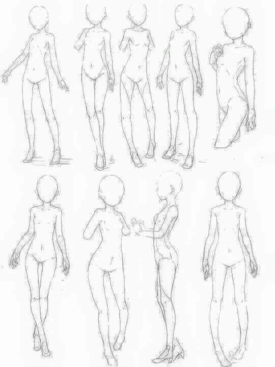 540x720 Small Female Body References Drawing References
