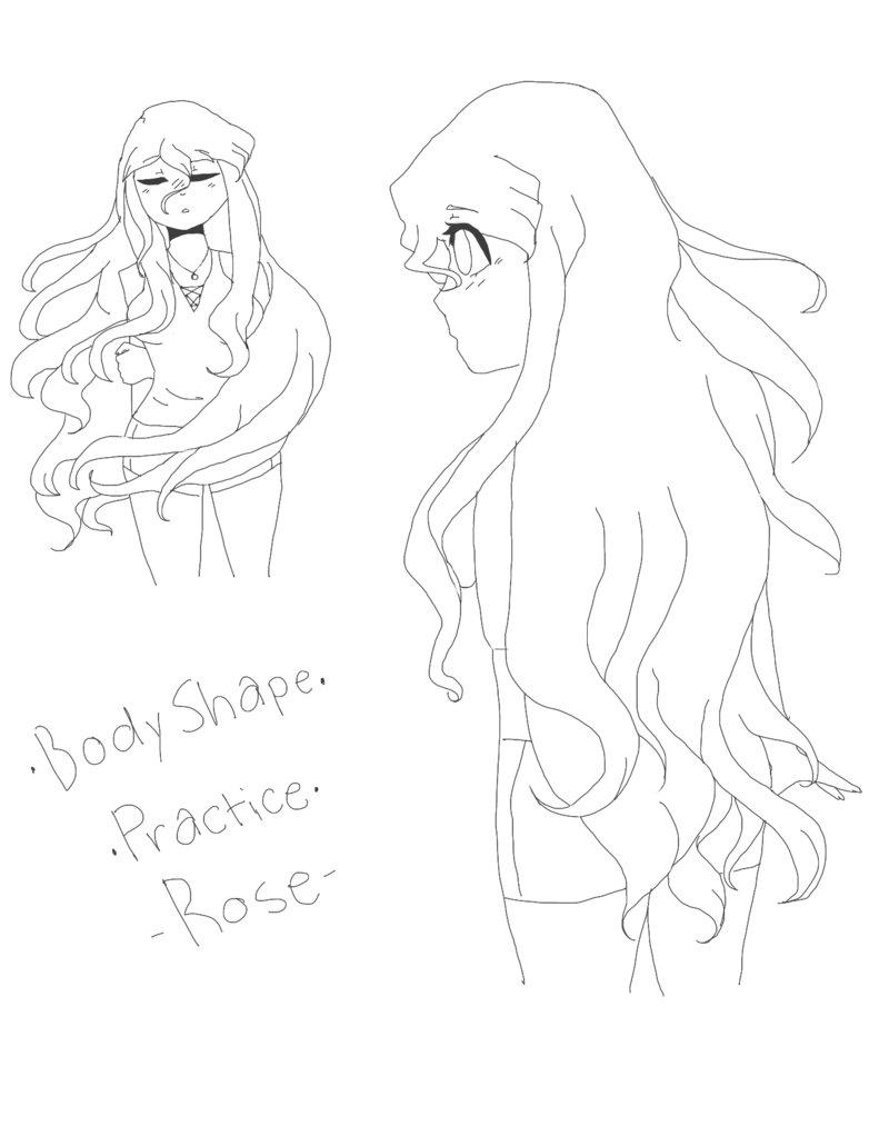 782x1022 Body Shape Practice Rose By Caramelheather