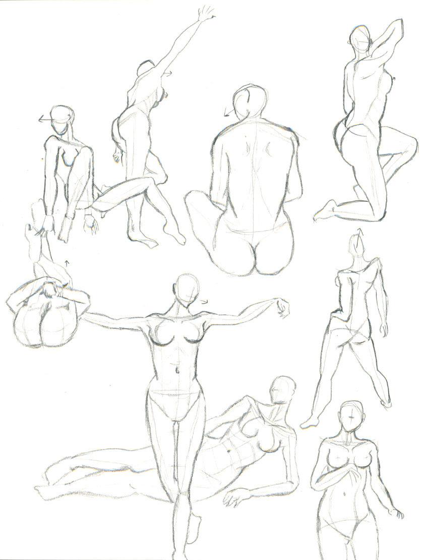 849x1110 Human Body Study 05 By Gavenecko