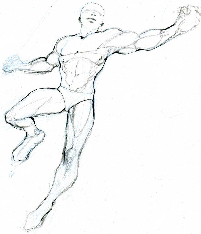 827x965 Human Body Study 1 By Medi El