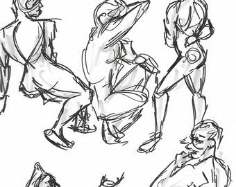 340x270 Male Body Sketch Etsy
