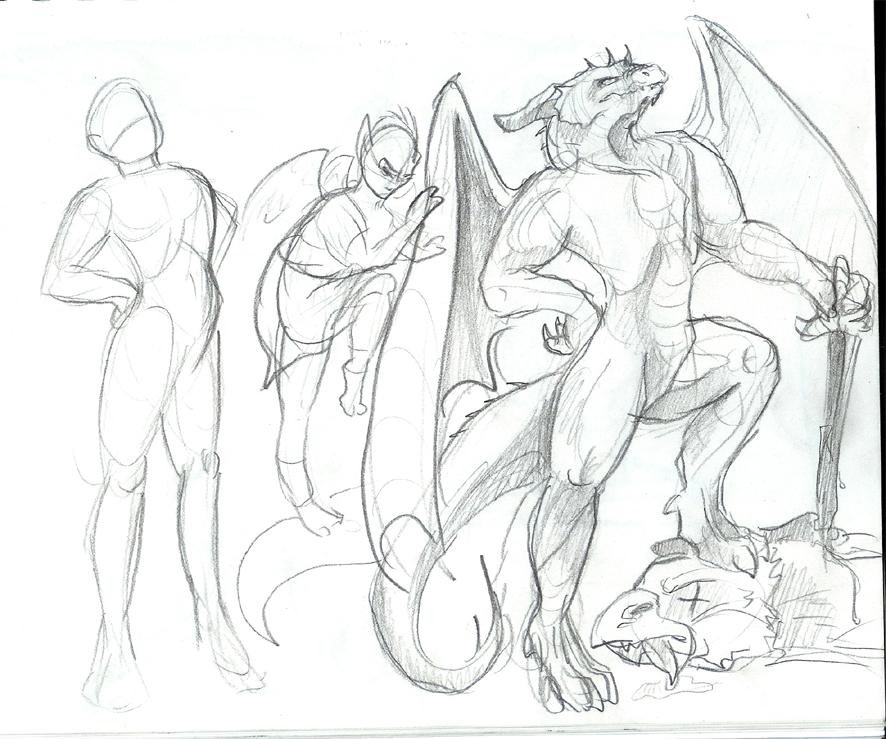 886x739 Dragon Body Study By Liquiddragonn