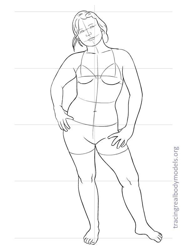 598x792 Real Body Fashion Figure Templates Bella, Leila, Doudoulolita
