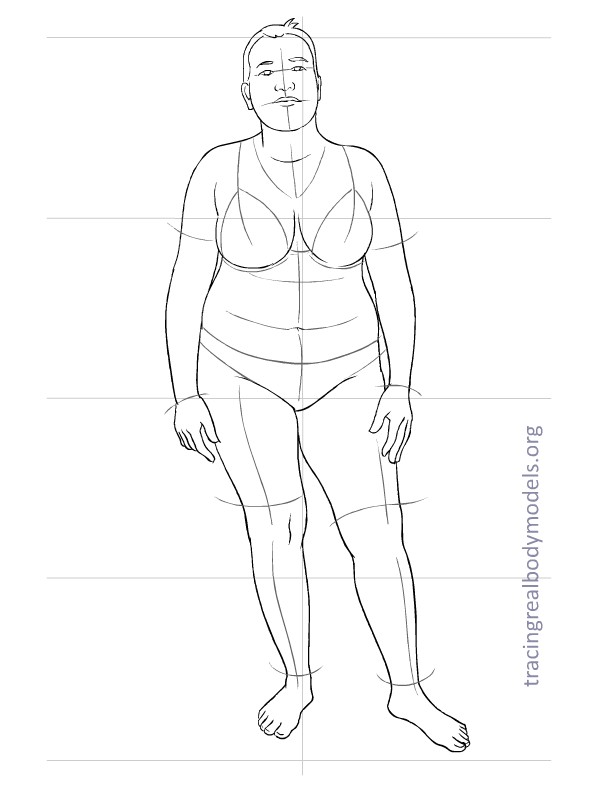 598x792 6 New Real Body Models, 33 Fashion Figure Templates Tracing Real