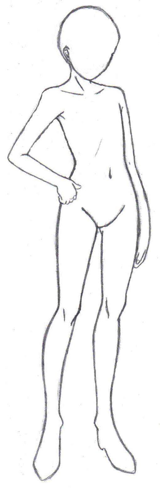 510x1564 Anime Drawing Templates [ Anime Character Template ] Anime