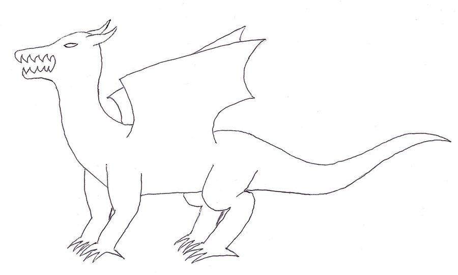 900x540 Dragon Full Body Template By Shadowolf0913